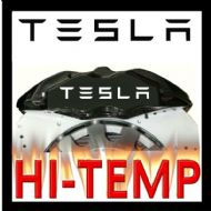 TESLA HIGH TEMPERATURE BRAKE CALIPER DECAL SET